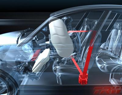 Airbag und Rückhalte-Systeme des Pre-Safe-Systems von TRW.