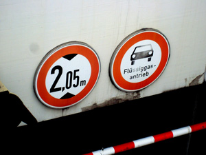 Erdgas Parkgarage verboten